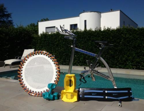 Déroulé d'une séance d'aquabike ou aquafitness à domicile